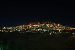 Opinión de la noche de Mardin Foto de archivo libre de regalías