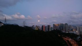 Opinión de la noche de Meifoo, HK Imágenes de archivo libres de regalías