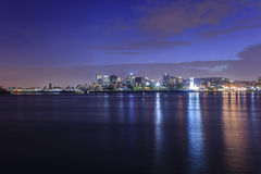 Opinión de la noche de Montreal, Canadá Imagen de archivo