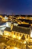 Opinión de la noche de Neumunster en Luxemburgo Imagen de archivo