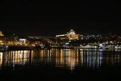 Opinión de la noche de Oporto - Portugal Fotos de archivo libres de regalías