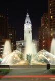 Opinión de la noche de Philadelphia Foto de archivo libre de regalías