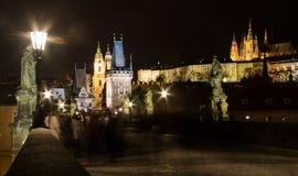 Opinión 2 de la noche de Praga Imagen de archivo libre de regalías
