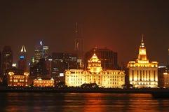 Opinión de la noche de Shangai Imagen de archivo