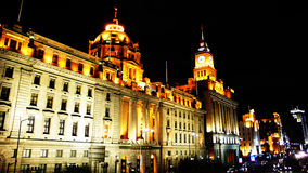 Opinión de la noche de Shangai imágenes de archivo libres de regalías