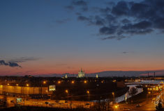 Opinión de la noche de St Petersburg Imagen de archivo libre de regalías