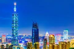 Opinión de la noche de Taipei 101 Imagen de archivo libre de regalías