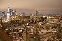 Opinión de la noche de Tallinn Foto de archivo libre de regalías