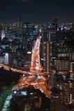 Opinión de la noche de Tokio Fotos de archivo