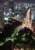 Opinión de la noche de Tokio Imágenes de archivo libres de regalías