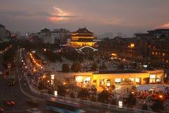 Opinión de la noche de Xian, China Fotos de archivo libres de regalías
