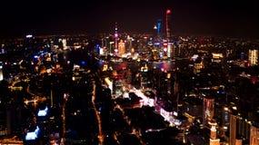 Opinión de la noche del ¼ Œ4k Timelapse de Shangai Chinaï almacen de video