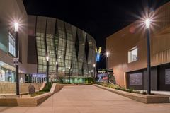 Opinión de la noche del 1 centro de oro famoso Fotografía de archivo libre de regalías