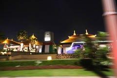 Opinión de la noche del centro turístico Dubai de la Atlántida Fotos de archivo libres de regalías