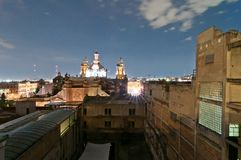 Opinión de la noche del horizonte en Ciudad de México Imagen de archivo libre de regalías