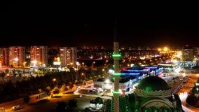 Opinión de la noche del paisaje de la mezquita imágenes de archivo libres de regalías