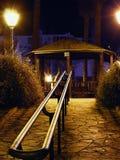 Opinión de la noche del pavillion del parque fotografía de archivo libre de regalías