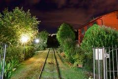 Opinión de la noche del teleférico en Montecatini Terme, Italia Fotografía de archivo