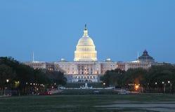 Opinión de la noche del Washington DC Imágenes de archivo libres de regalías