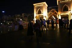 Opinión de la noche de Dubai Fotografía de archivo