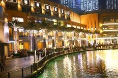 Opinión de la noche de Dubai Imagen de archivo libre de regalías