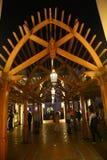 Opinión de la noche de Dubai Fotos de archivo libres de regalías