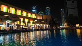Opinión de la noche de Dubai Foto de archivo libre de regalías