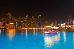 Opinión de la noche de Dubai Imagen de archivo