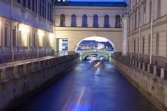 Opinión de la noche el Peter y Paul Fortress, St Petersburg Fotos de archivo