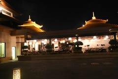 Opinión de la noche de la isla de palma - Dubai Foto de archivo libre de regalías