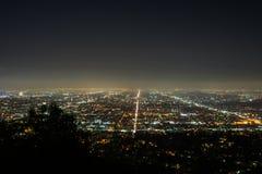 Opinión de la noche de Los Ángeles en Griffith Observatory imagenes de archivo