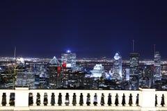 Opinión de la noche sobre Montreal Fotos de archivo
