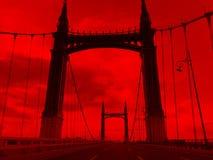 Opinión de la noche de Yang Ming Tan Bridge fotos de archivo