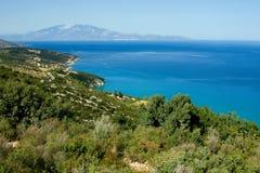 Opinión de la orilla de Zakynthos Imagenes de archivo