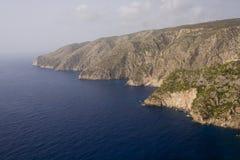 Opinión de la orilla - isla de Zakynthos Foto de archivo