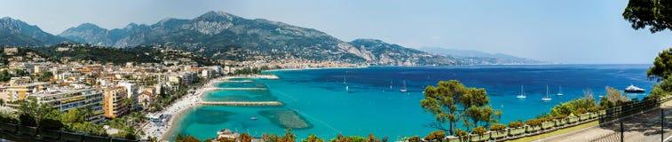 Opinión de la pájaro-mosca de Mónaco, negocio y concepto panorámicos del turismo Foto de archivo libre de regalías