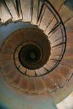 Opinión de la parte superior de una escalera espiral Imagen de archivo
