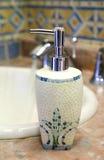 Opinión de la parte superior del dispensador del jabón Fotografía de archivo