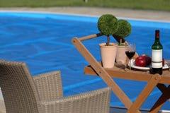 Opinión de la piscina foto de archivo libre de regalías