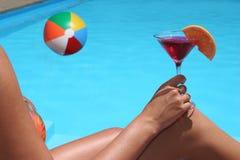 Opinión de la piscina Imágenes de archivo libres de regalías