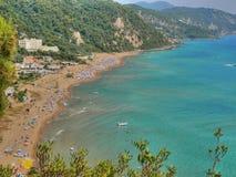 Opinión de la playa Foto de archivo