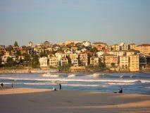 Opinión de la playa de Bondi Imagen de archivo libre de regalías