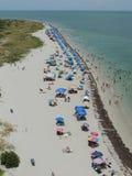 Opinión de la playa de Key Biscayne Imagen de archivo