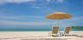 Opinión de la playa de la arena Foto de archivo libre de regalías