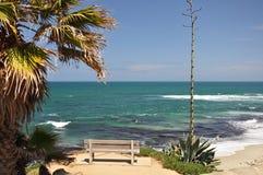 Opinión de la playa de La Jolla Fotos de archivo