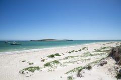 Opinión de la playa de Lancelin Fotografía de archivo libre de regalías