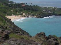 Opinión de la playa de Oahu Foto de archivo
