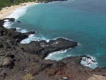 Opinión de la playa de Oahu fotos de archivo