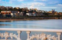 Opinión de la playa de San Sebastián Imagenes de archivo