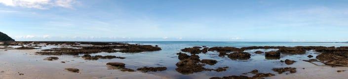 Opinión de la playa de Thornton Imagen de archivo